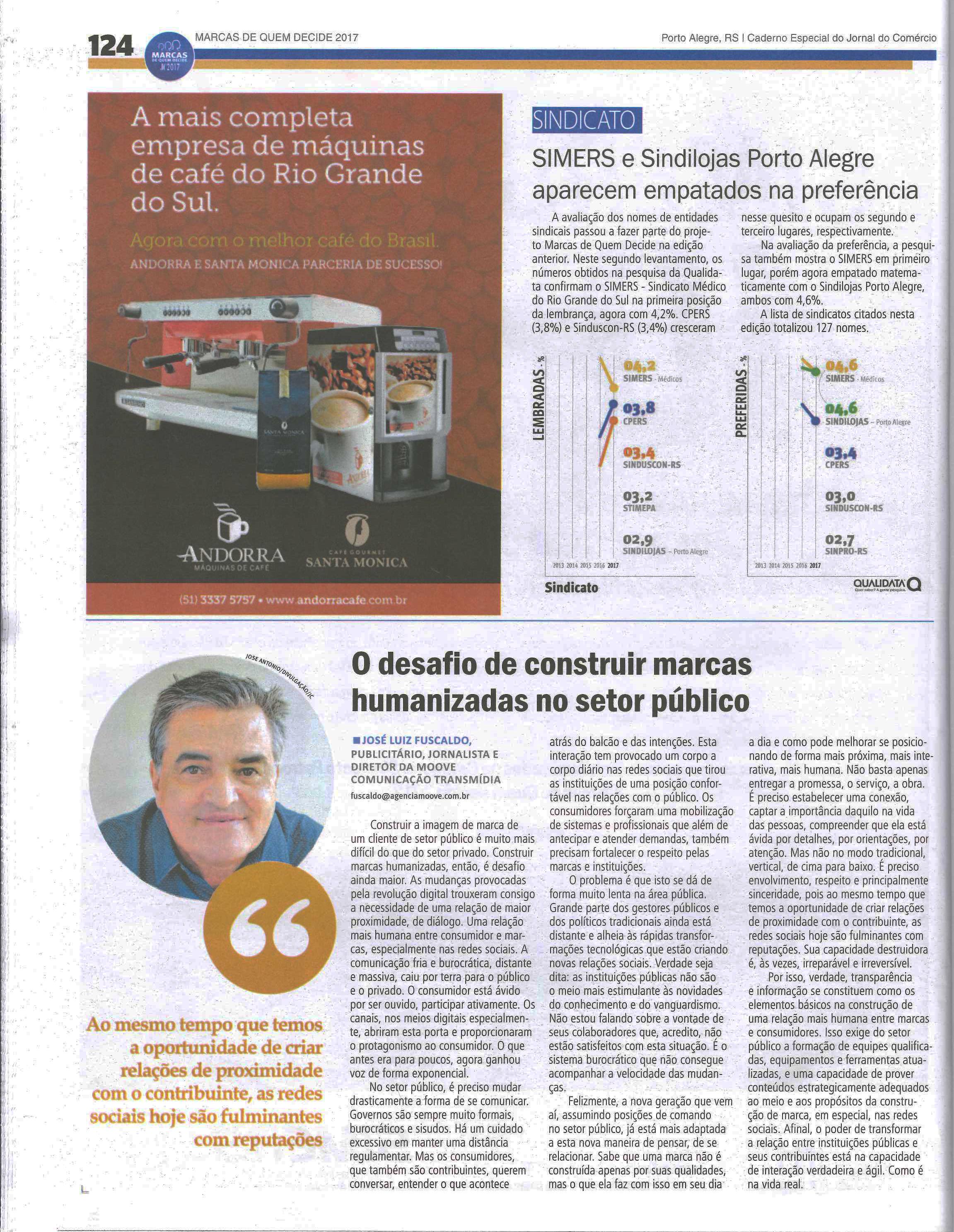 Nota Fuscaldo Jornal do Comércio