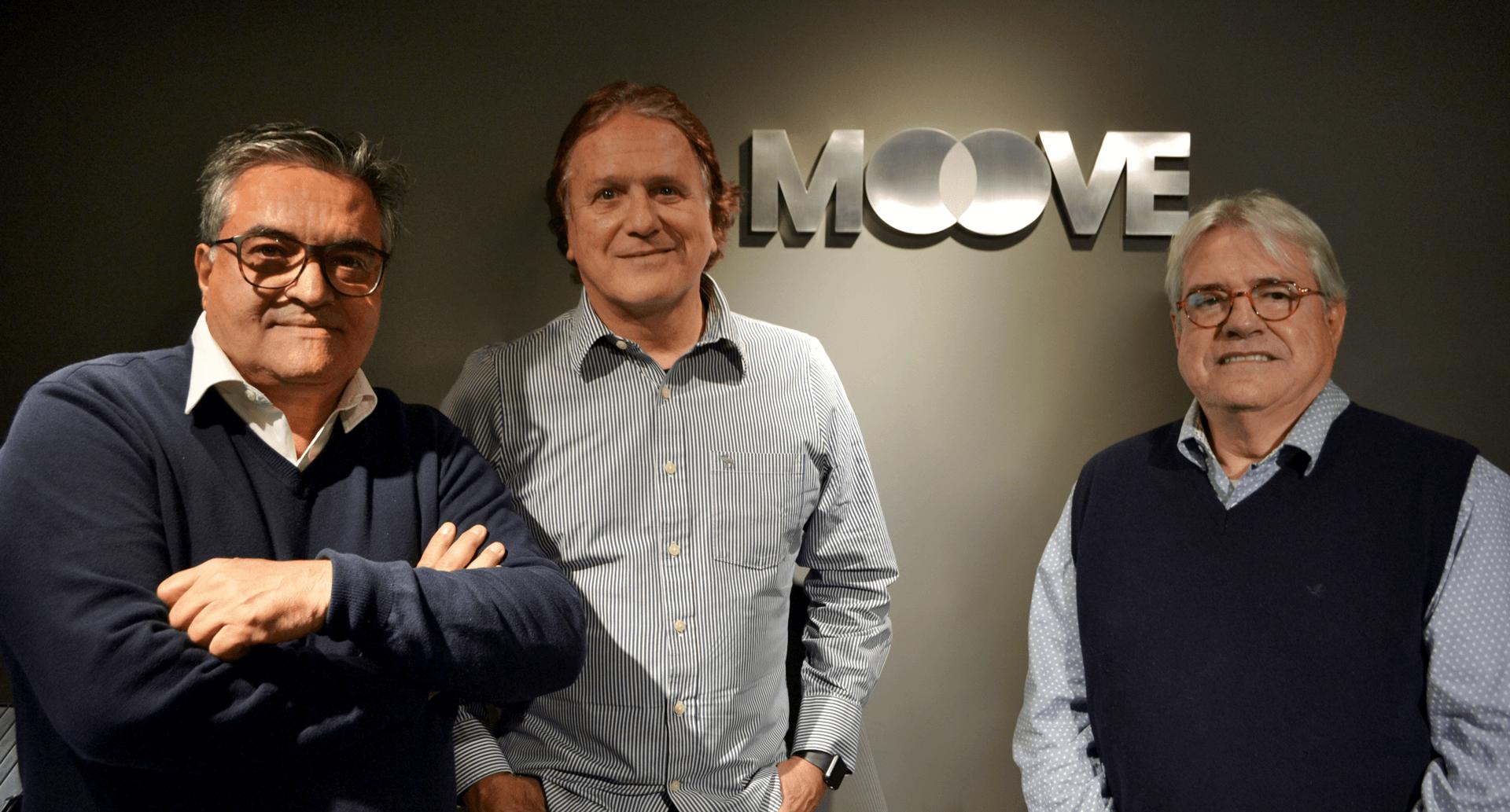 Foto: Os diretores José Luiz Fuscaldo, Alberto Meneghetti e José Antônio Vieira da Cunha. Divulgação/Moove