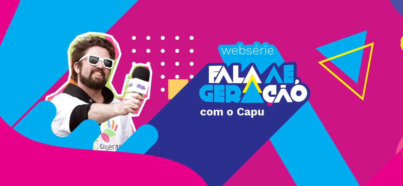"""O Capu é o apresentador da Web série """"Fala ae, Geração""""."""